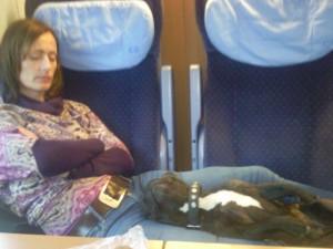 slapen in de trein 300x225 Met de trein naar Nederland.