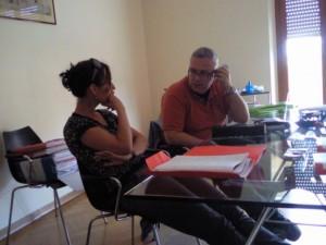 Anne en Giovanni bij de architect01 300x225 Vooruitgang