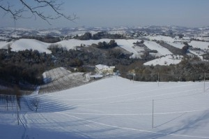 casolare re sole in de sneeuw 02 300x199 Winter in Le Marche I