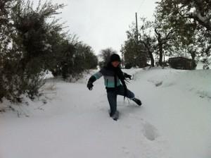 anne op ons pad 300x224 Sneeuw, sneeuw en nog eens sneeuw
